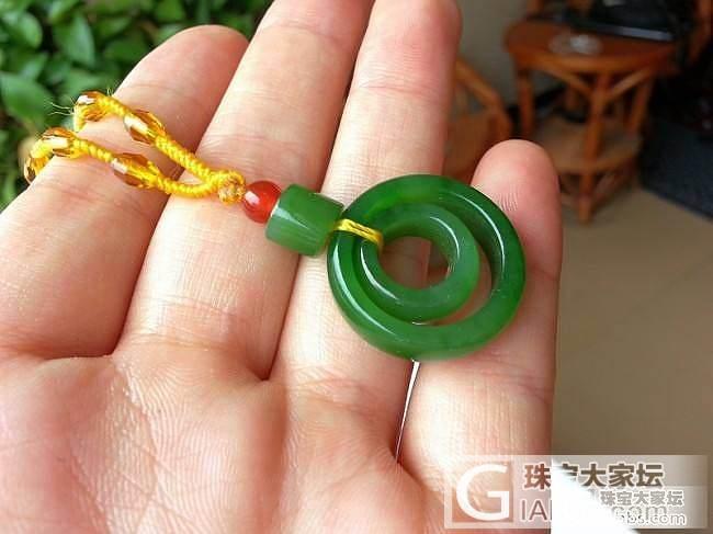 【玉玲珑】~精美和田玉碧玉菠菜绿平安环一对,加微信8217708_玉玲珑翡翠