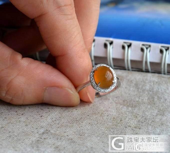 【钻石蜜语】18K冰黄起光戒指已售_钻石蜜语