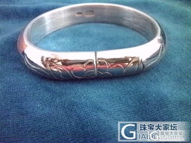 晒晒给买家做的几款镯子_传统银饰