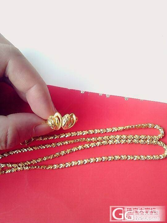 晒一下我的黄金和铂金首饰_铂项链戒指金