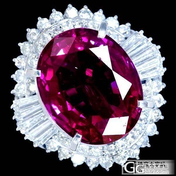大克拉红宝石戒指图片。新手想学习_红宝石