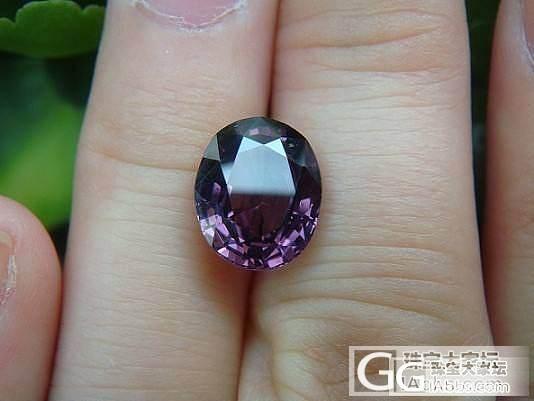 帕帕拉恰色3.05克拉粉尖晶 紫红色..._宝石