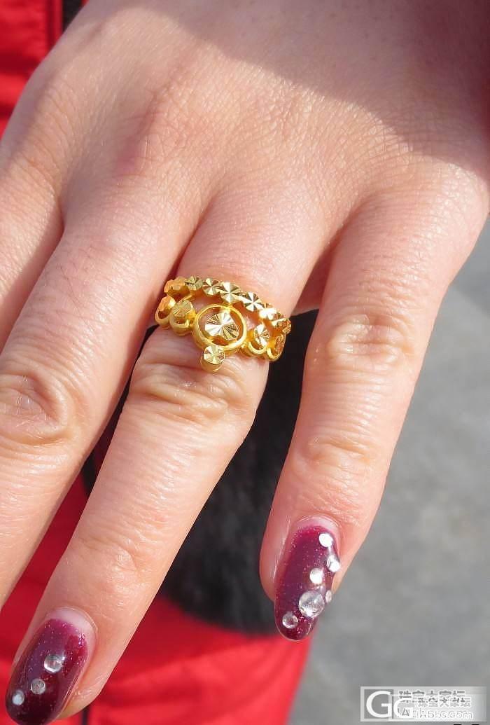 也秀我的皇冠戒指~~_戒指金