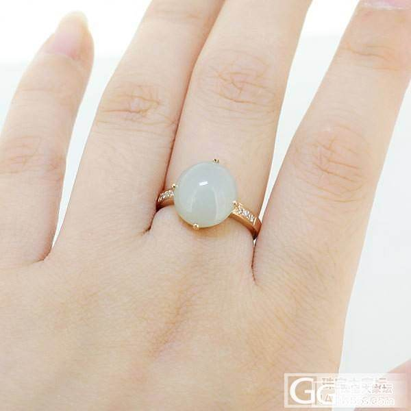 几款成品18K金翡翠戒指~~630米起_镶嵌珠宝