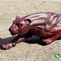 小叶紫檀 雕了只 大豹子